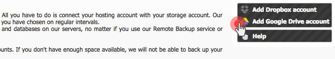 Web server to Drpbox